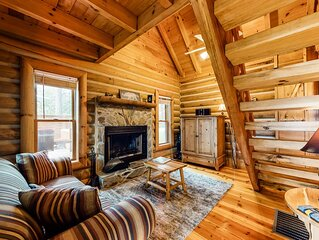 Charming, dog-friendly cabin w/ a private hot tub & furnished deck