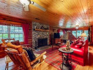 Peaceful Creekside Cabin w/ Wood-Burning Fireplace, Firepit, & Screened-In Porch