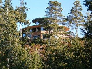 Hilltop ocean view round house