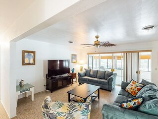 New listing! Canal-front home w/small private pool & terrace - 4 blocks to beach