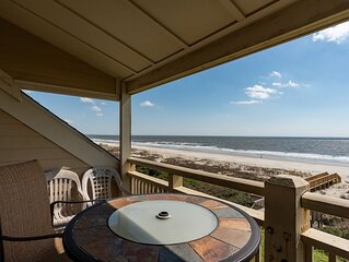 House at the Beach: 2 Bed/1 Bath Oceanfront Condo with Covered Porch and Communi