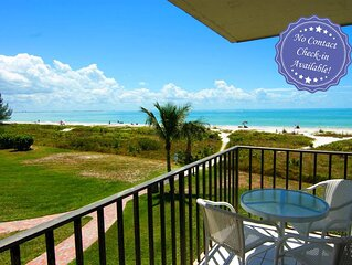 Fabulous Gulf view condo- heated pool, shuffleboard, BBQ, lanai, internet