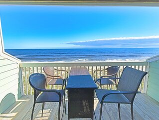 Oceanfront Condo with 2 decks! Enjoy the Indoor heated pool and outdoor pools