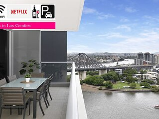❤️Executive 3 Bedroom Family Suite❤️River Views|Wifi|Brisbane|Carpark