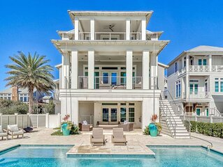 Private Pool, Bikes, Gulf Views, Designer House, 100 yards to Beach