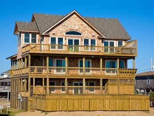 Captivating Oceanfront Views- Elevator, Pool, Hot Tub, Game & Media Rooms, Grill