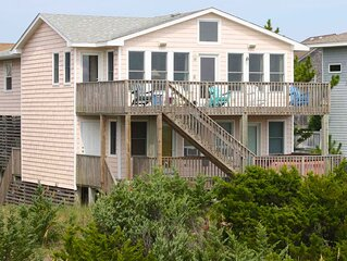 Stylish Oceanfront Avon Home w/ Hot Tub, Cmty Pool, Karaoke, WiFi, Dog-Friendly