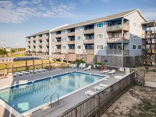Welcoming Semi-Oceanfront Rodanthe Condo-Resort Pool & Elevator, Beach Boardwalk