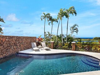 PRIVATE POOL W/ CENTRAL AC IN CENTRAL POIPU - OCEAN VIEWS TOO!