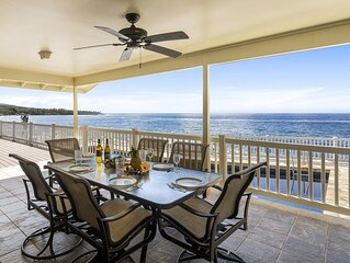 Absolute oceanfront getaway. Nicely upgraded and well equipped. Pool and separat