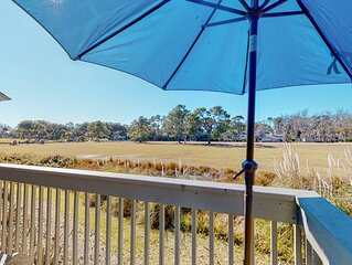 Beautiful Golf Course Views From Your Private Deck!