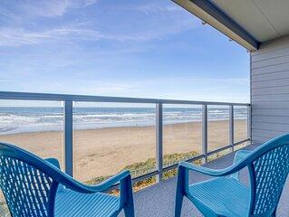 Second-Floor Oceanfront Condo Has Spectacular Views of Newport's Nye Beach!
