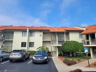 Lovely 1st Floor unit with grounds, pool and water view!