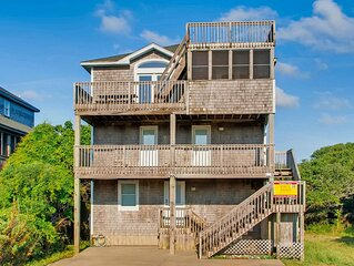 Lighthouse Views! Oceanview, Buxton-Pool, Hot Tub, Game Rm, Grill, Walk to Beach