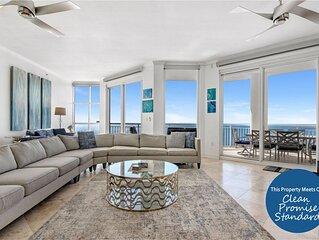 Renovated Palacio Penthouse- Gulf Front with Free Seasonal Beach Service!
