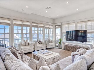 OCEAN VIEWS, Steps to BEACH, POOL, Bikes, Heart of Rosemary Beach!