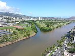 Great Views of Ala Wai Canal & Golf Course.