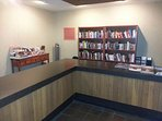 Library next to the lobby of building