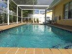 Free heated pool