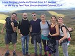 This group of our Guests made it to the top of Pen Y fan with two babies!  No mean feat. Well Done!