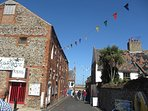 Staithe Street, leading to the harbour.  A very short walk from the cottage.