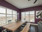 Dining area with plenty of seating - leads to outdoor balcony