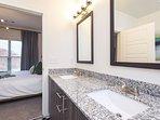 King bed with full master bathroom en suite