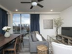 Spacious and open concept apartment curated by a local Nashville designer