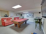 The Game Room is equipped with a private billiards table. No quarters required.