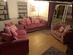 Comfortable, Roomy, Bright relaxing living area with Log Fire and Free films
