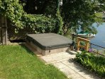 Your own private hottub overlooking the water - watching beautiful sunset  and enjoying the views