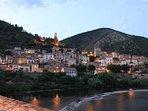Twilight from the bridge in Roquebrun