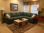 Living area with new  La-Z-Boy sectional