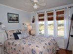 Nautical decor w/full sized bed