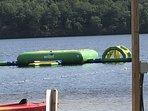 Trampoline in lake