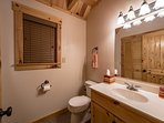 1st floor 1/2 bath directly off the kitchen.  Laundry room with brand new washer/dryer in closet