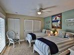 Guest Bedroom  overlooking sunning deck