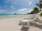 Spectacular Beach directly in front of villa & infinity pool, walk for miles on this beach!