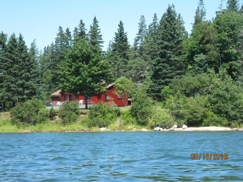 View of the cottage from the ocean.