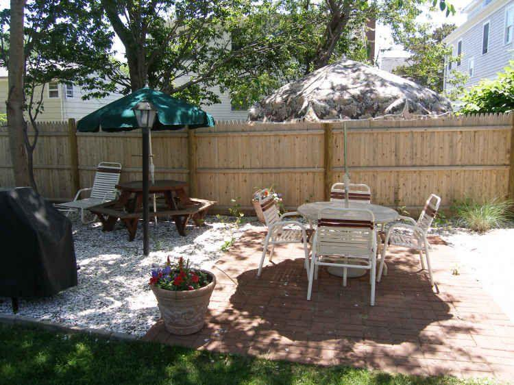 A great lot with cozy back yard furniture for relaxing