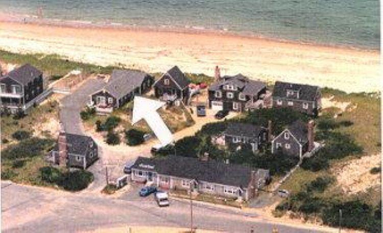 Aerial Side view of cottage