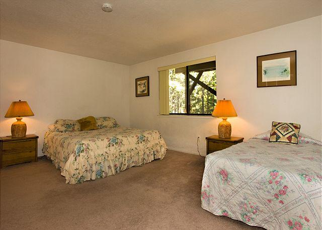 Tahoe Tyrol 3336 down stairs bedroom - king and 2 twins