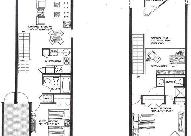 2 Schlafzimmer, 2 Badezimmer mit Dachboden