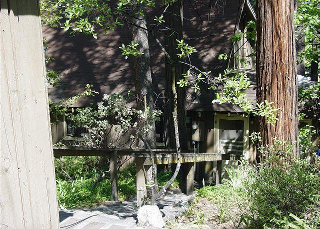 Vista desde la calle hasta la entrada de la cabina.