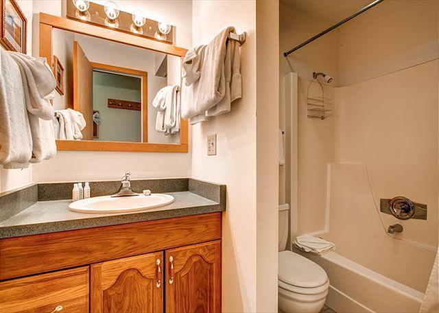 Peak 8 Village Hallway Shower Bath Breckenridge Lodging