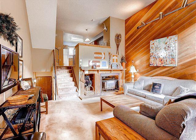 Winterpoint Living Room Hébergement à Breckenridge