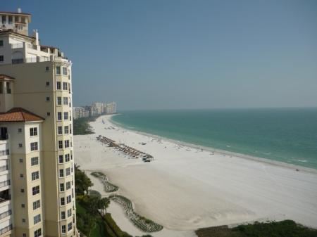 Playa Sur vista desde el balcón