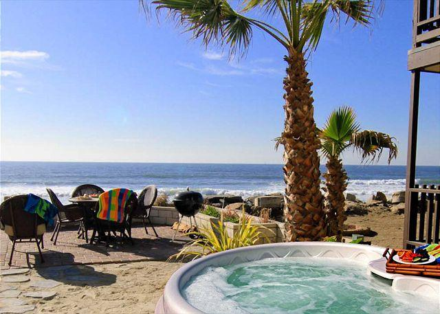 Private spa on your beachfront patio