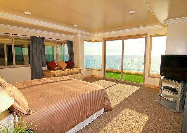 bedroom with beachfront balcony