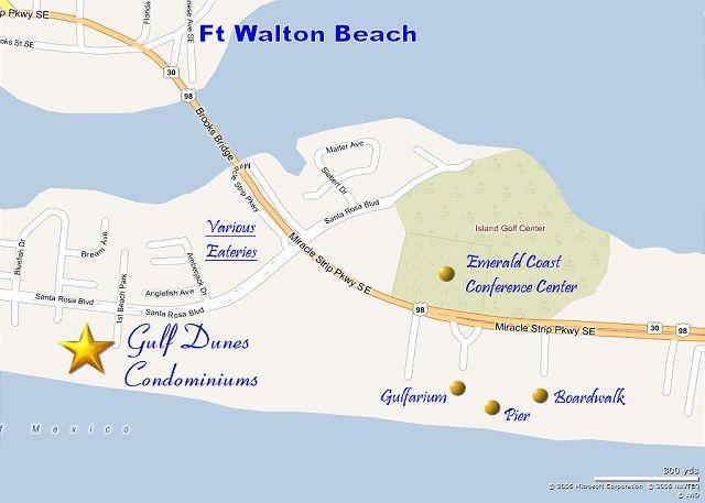 Map Of Fort Walton Beach Florida.Gd 514 Oh My Best One Bedroom At The Gulf Dunes Hands Down